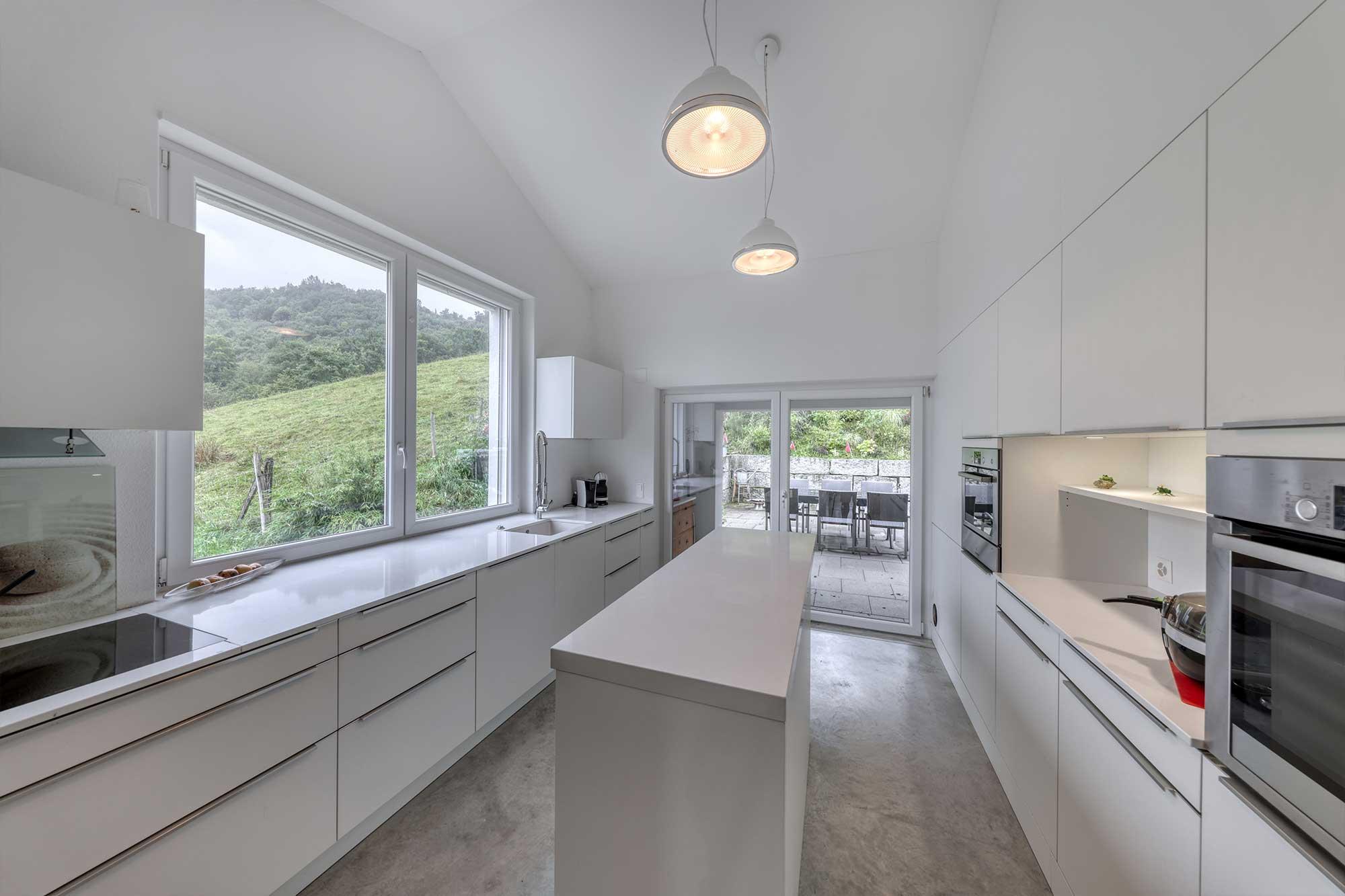 Einfamilienhaus zu verkaufen mit moderner Küche und direktem Gartenzugang, Zürich, Langwiesen
